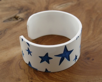 Blue star bangle
