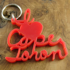 I heart CT keyring red